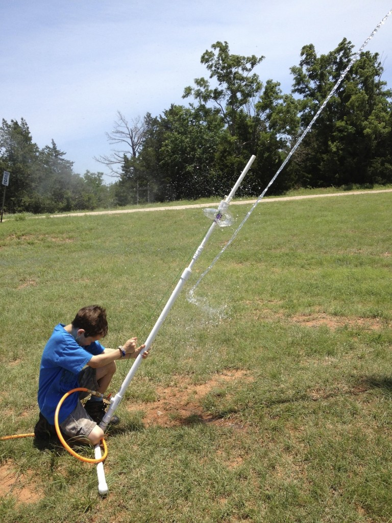 Launching water rockets