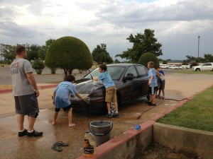 Handyman – washing a car and changing a tire