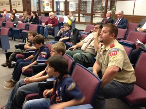 Citizen – flag ceremony at City Council and learning about the government